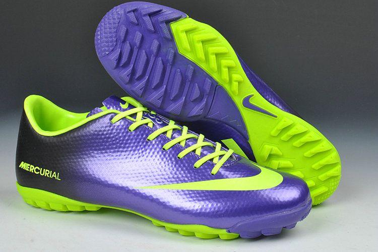00a9efcee2e Cheap Nike Mercurial Vapor IX TF Cleats Deep Purple Fluorescent Green