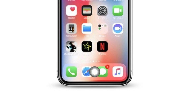How to add a virtual home button to the iphone x iphone
