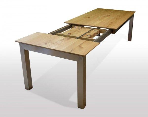 Tisch Wildeiche massiv Breite 80cm / Länge wählbar in