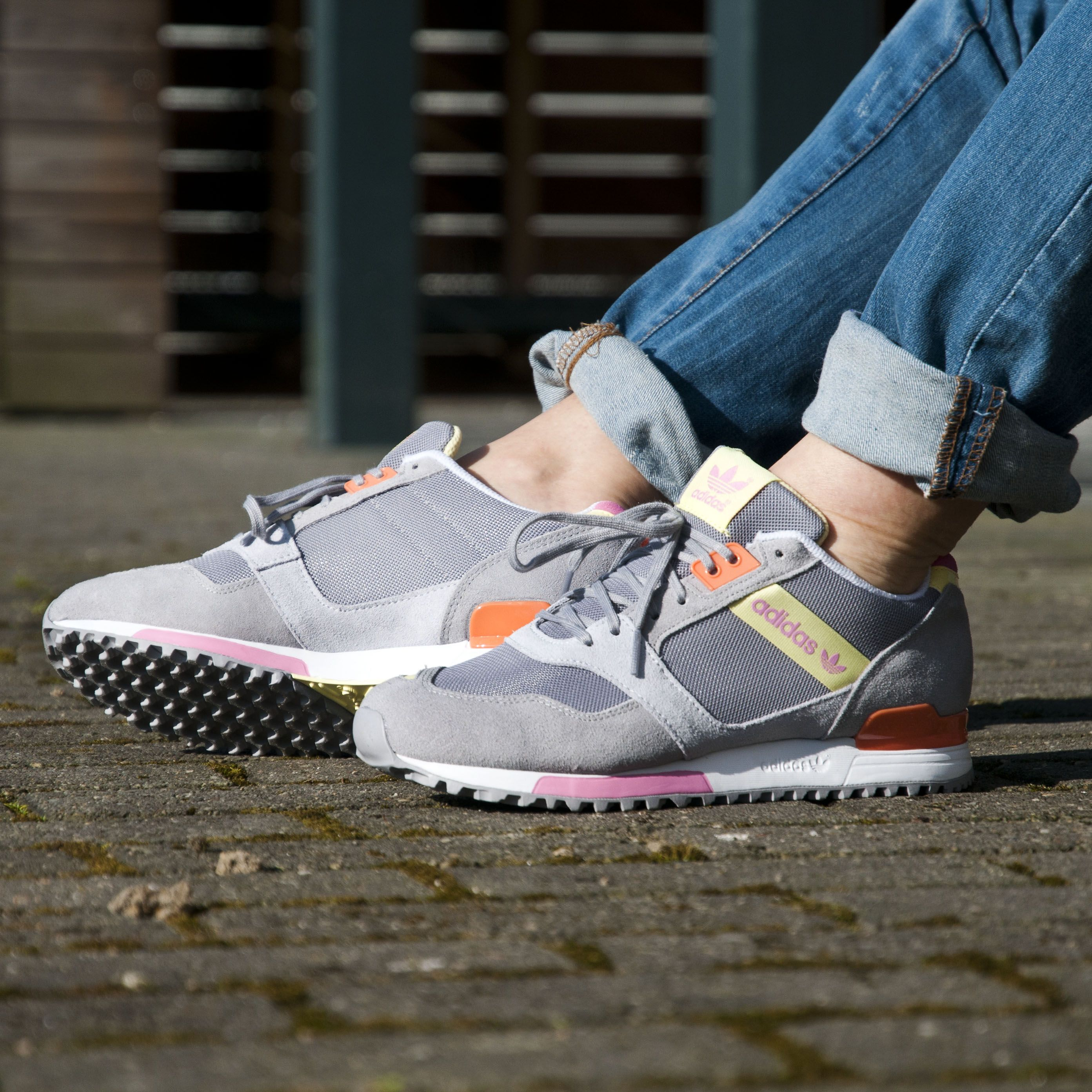 Adidas Zx 700 Flyknit Running Sneaker Shoes Perfect Shop Pink Green Womens