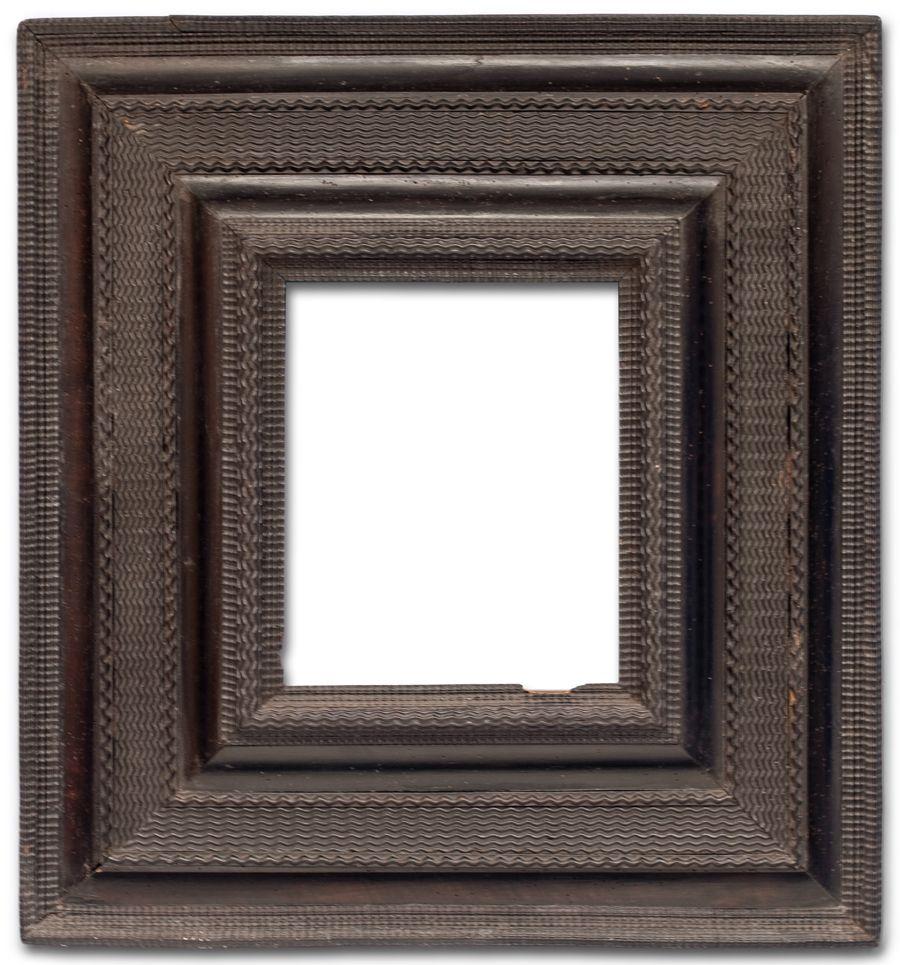 An Italian, Venetian, black molding frame with various ripples ...
