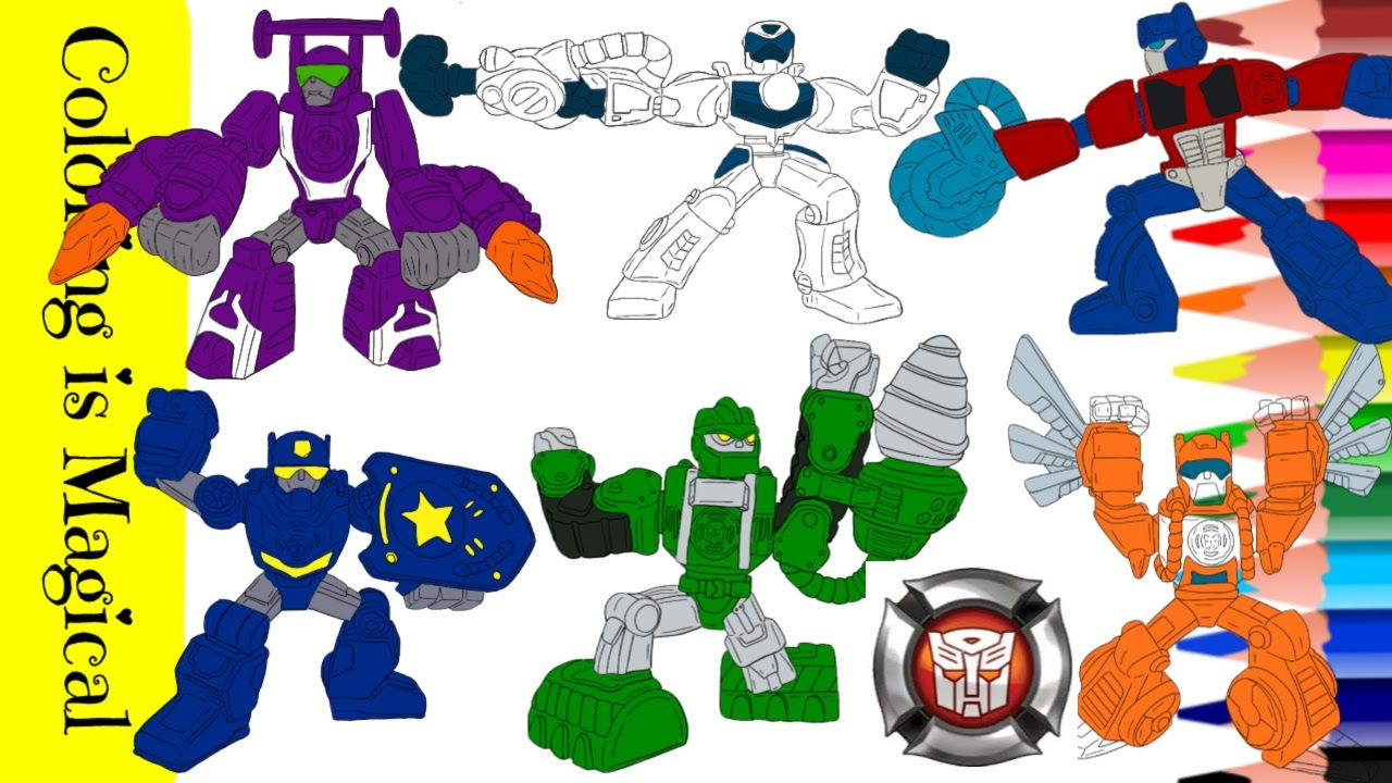 Rescue Bots Coloring Page Compilation in 2020 Disney