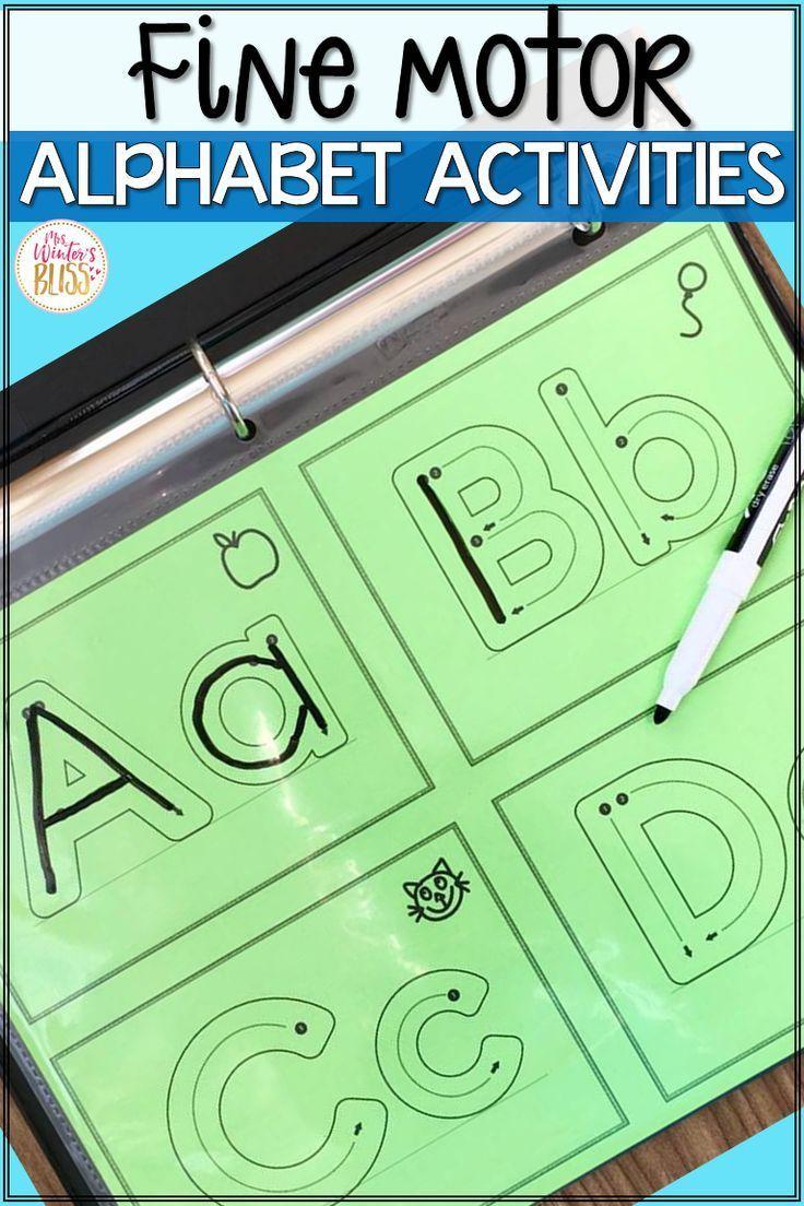 FREE Fine Motor Alphabet Activities