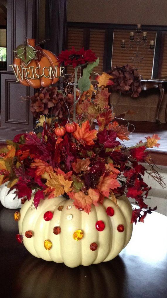 thanksgiving fall autumn white pumpkin centerpiece and decorating rh pinterest com