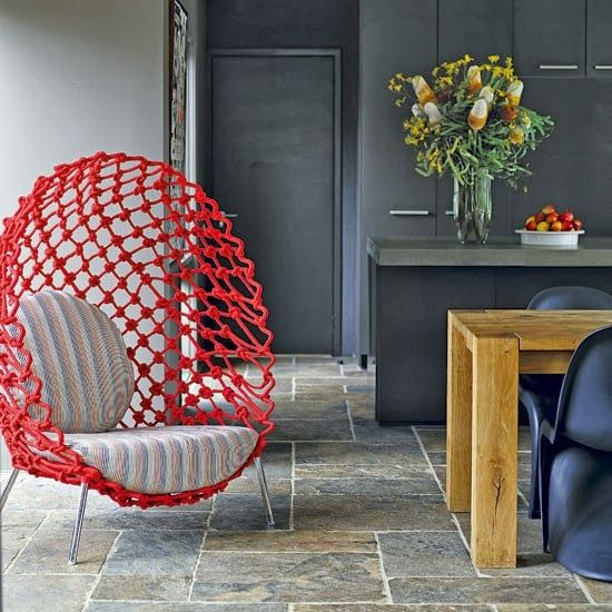 Gray and red http://decdesignecasa.blogspot.it