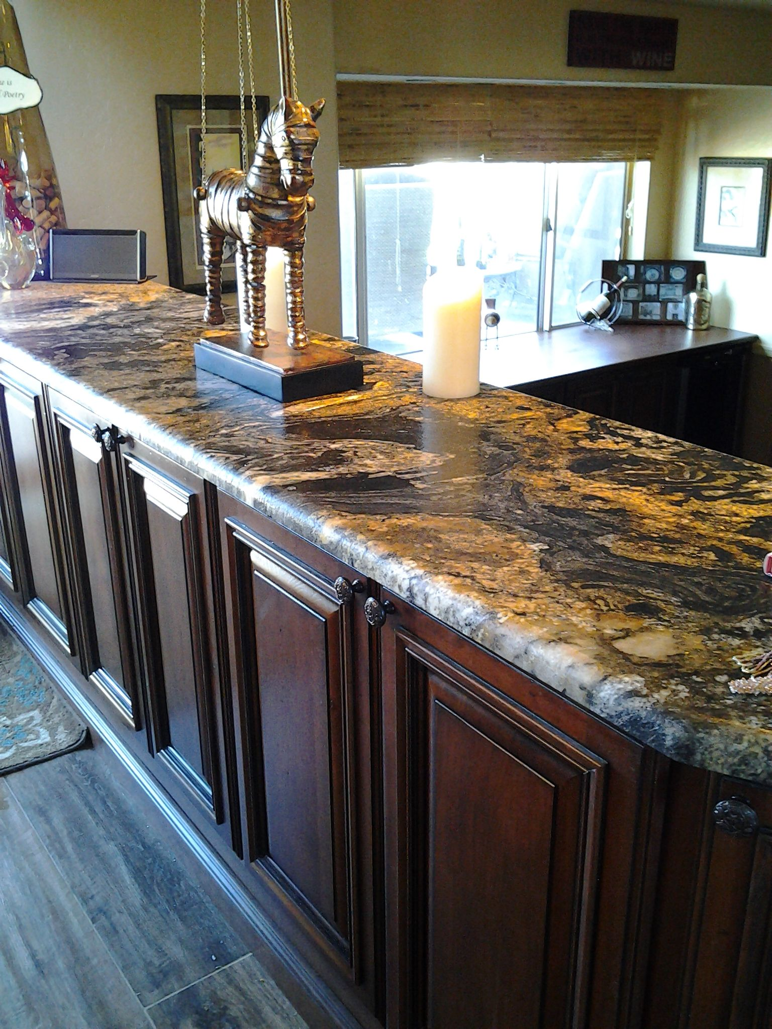 Volcano Granite And Gingersnap Cabinets This Is The Look