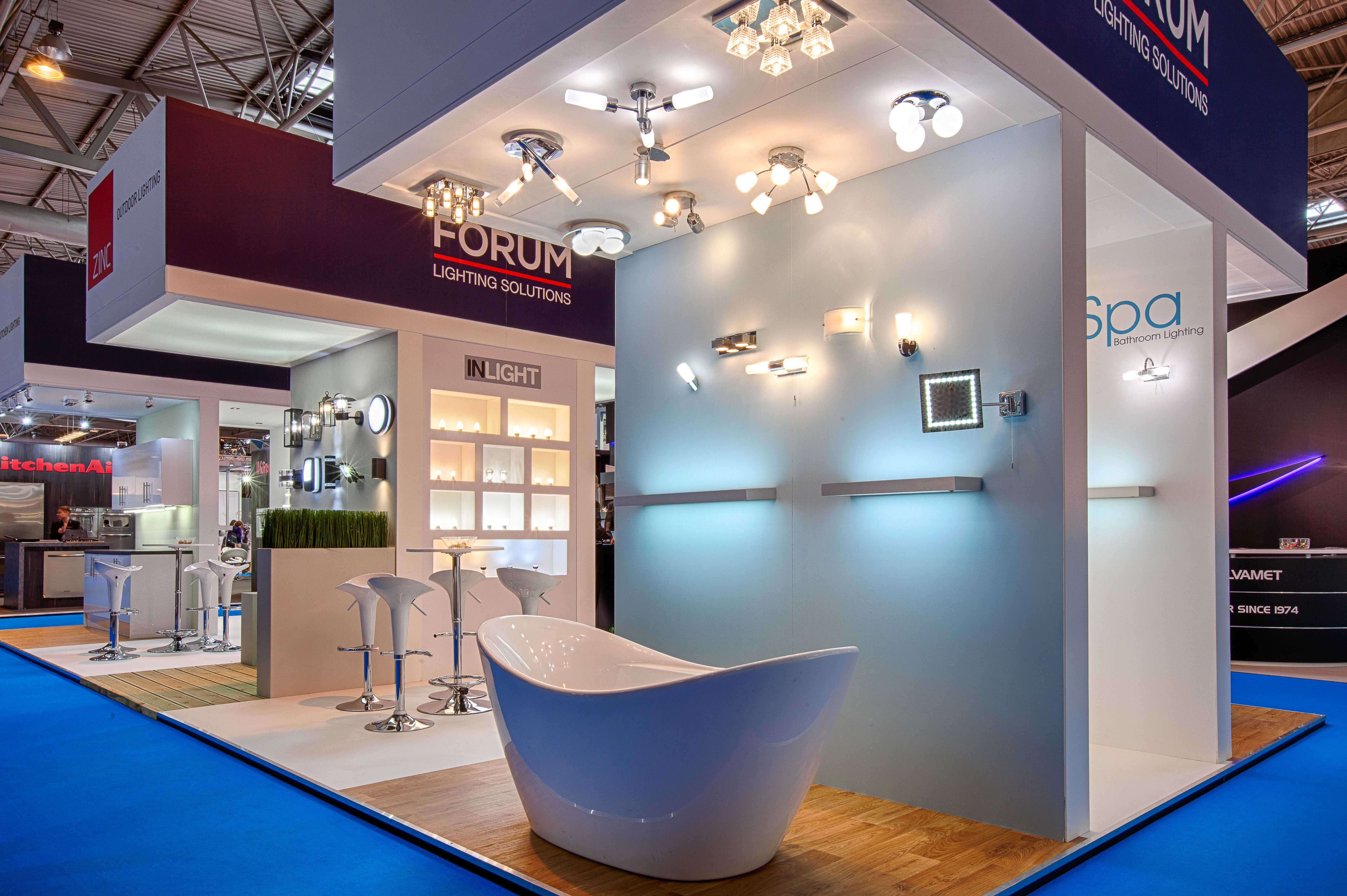Exhibition Stand Lighting Requirements : Exhibition stand designed built and installed for