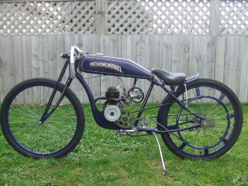 Old School Motorized Bicycle Retro Bicycle Antique Motorcycles
