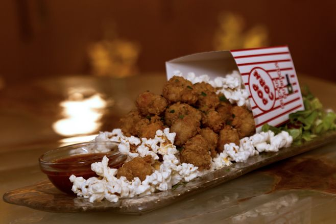 popcorn shrimp at barton g the restaurant