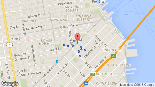 Palace Hotel, a Luxury Collection Hotel, San Francisco Map ...