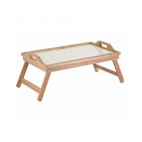 breakfast bed tray wooden frame handle foldable legs food serving rh pinterest com