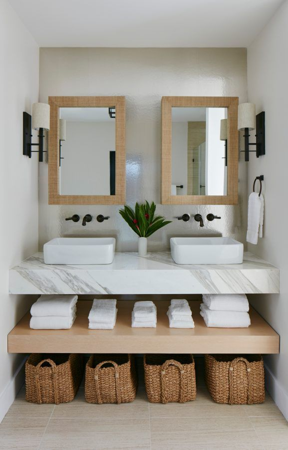 Photo of Bathroom With Floating Vanity Shelves