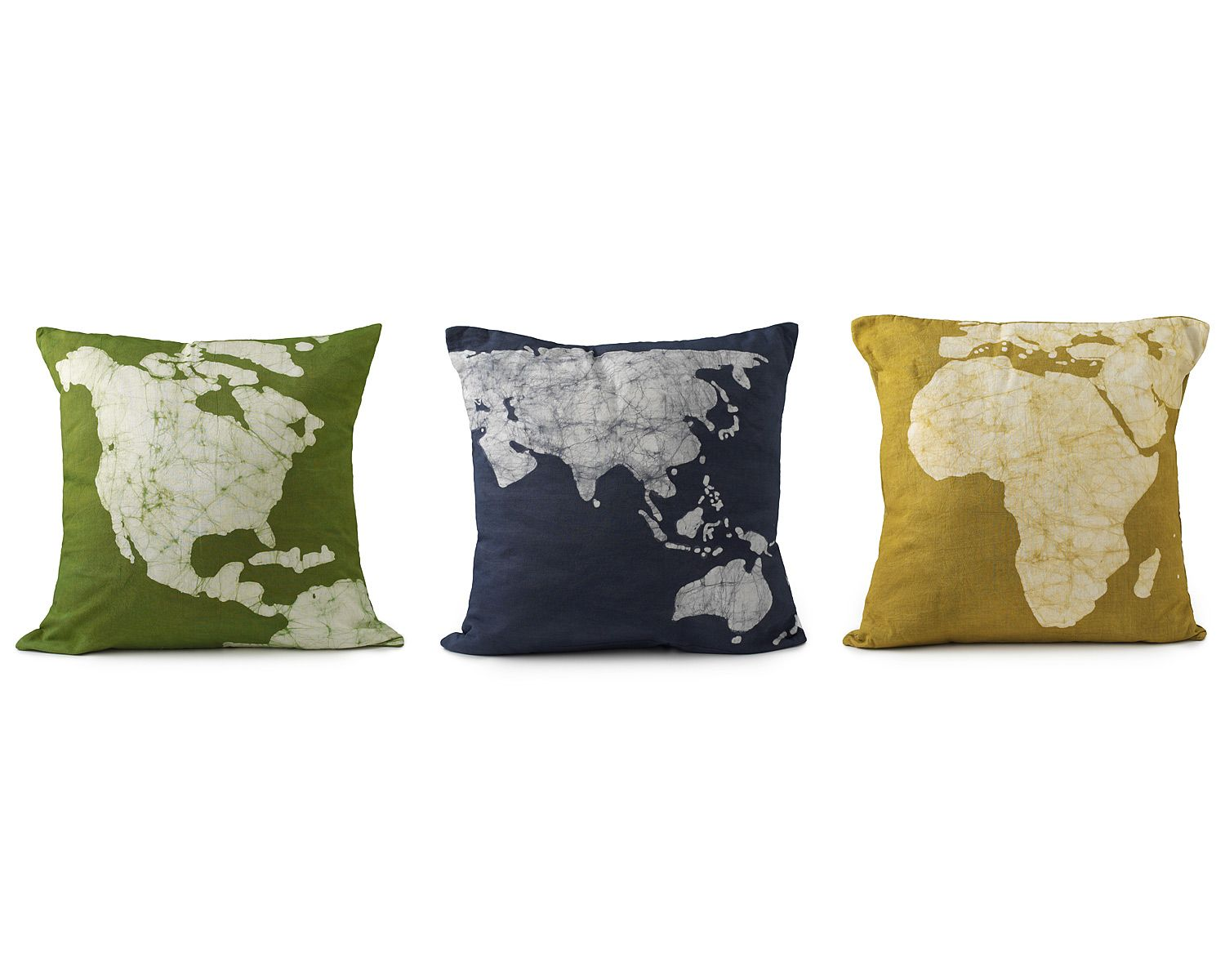 Continent Pillows Set Of 3 Pillow Case Dyed Continental Uncommongoods