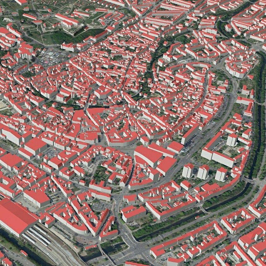 Erfurt als 3D-Karte