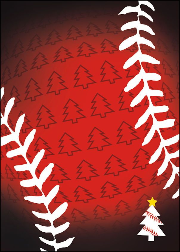 Red Trees Baseball Christmas Cards | Baseball Crafts | Pinterest ...