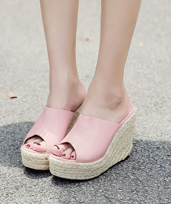 Espadrille Slide Wedges - Deergorgeous  Women Shoes -7449