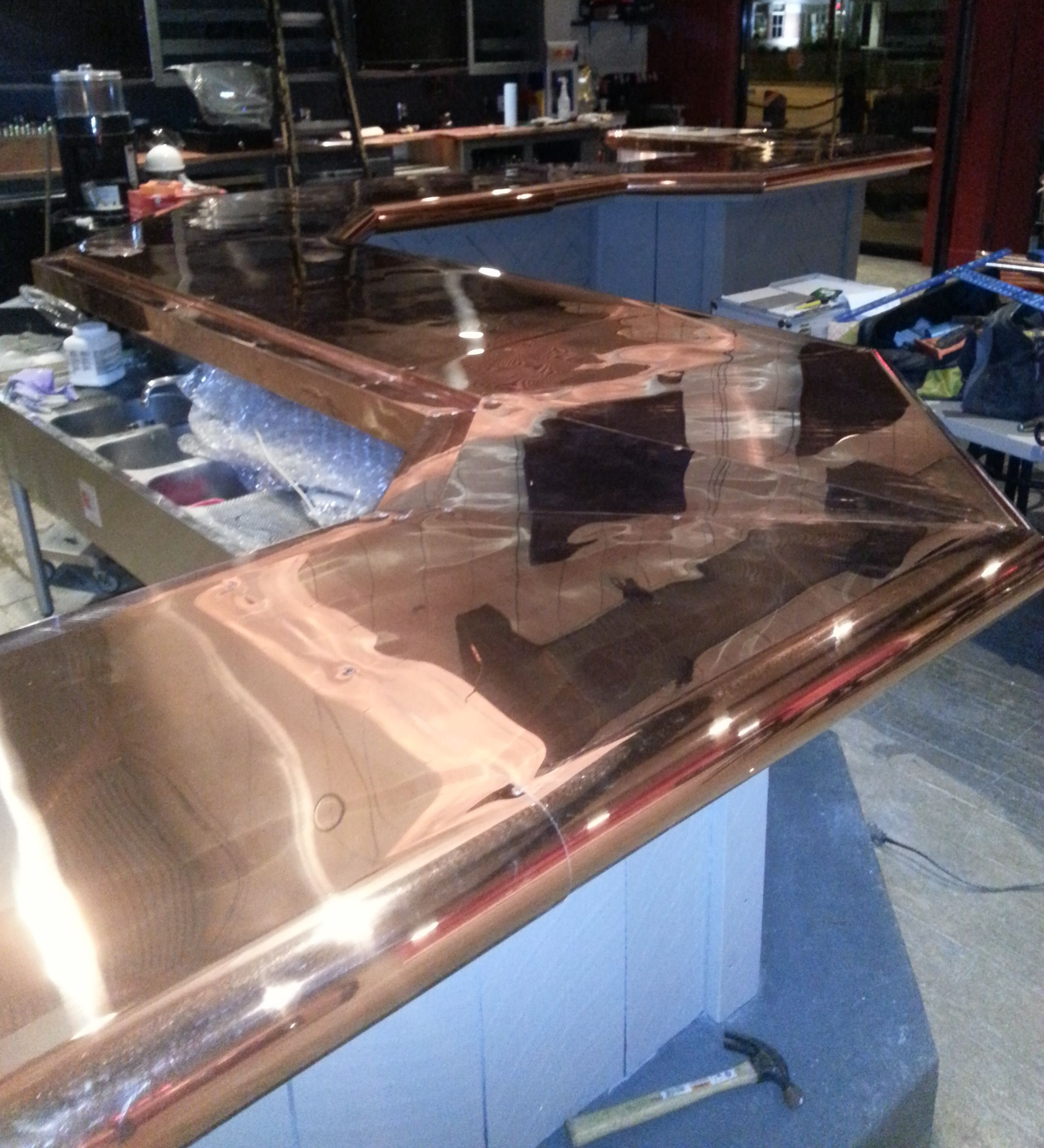 Beau Copper Bar Top Ontario Sunset Metal Fab