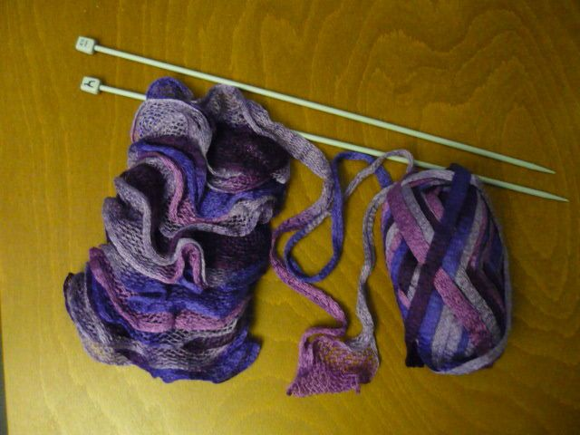 tricoter une echarpe ondas
