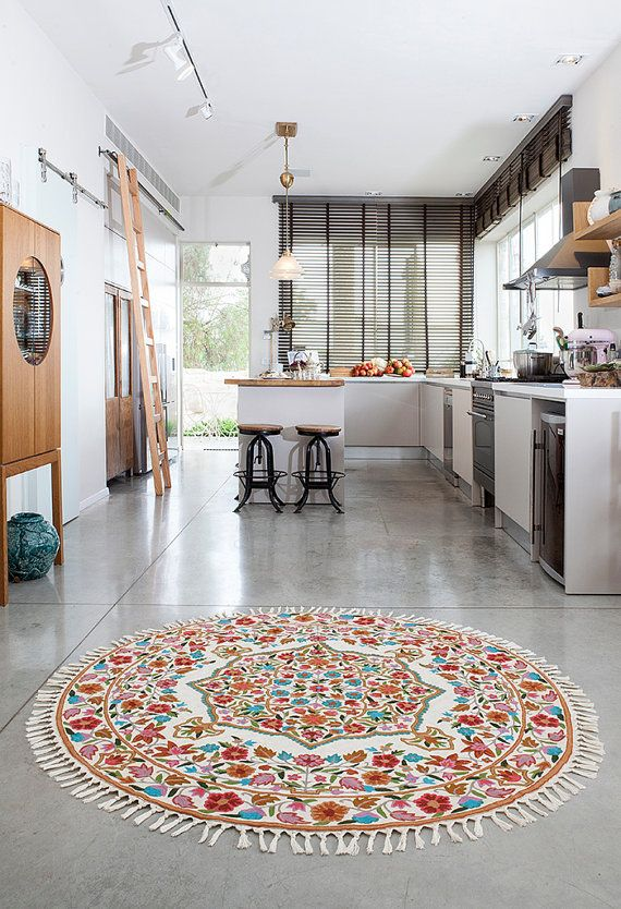 5 Round Rug Floral Area Rugs Rug Store Circular Rugs Affordable