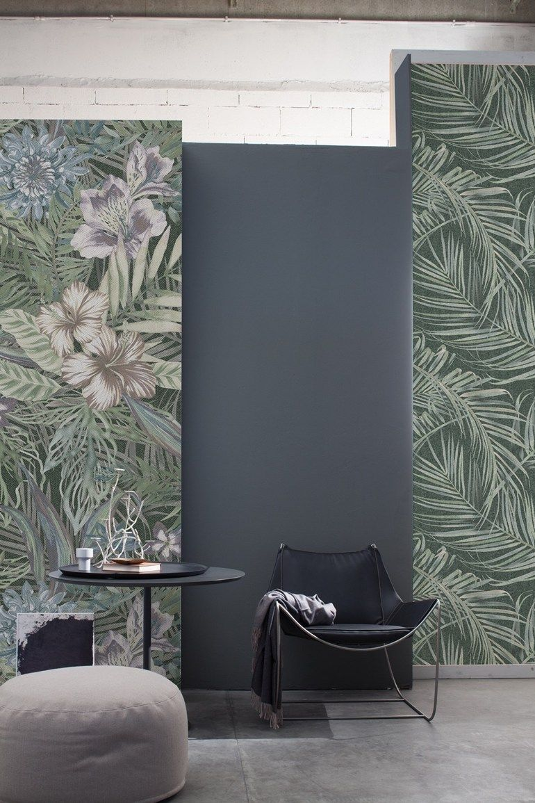 Panoramic wallpaper with floral pattern TENNO by