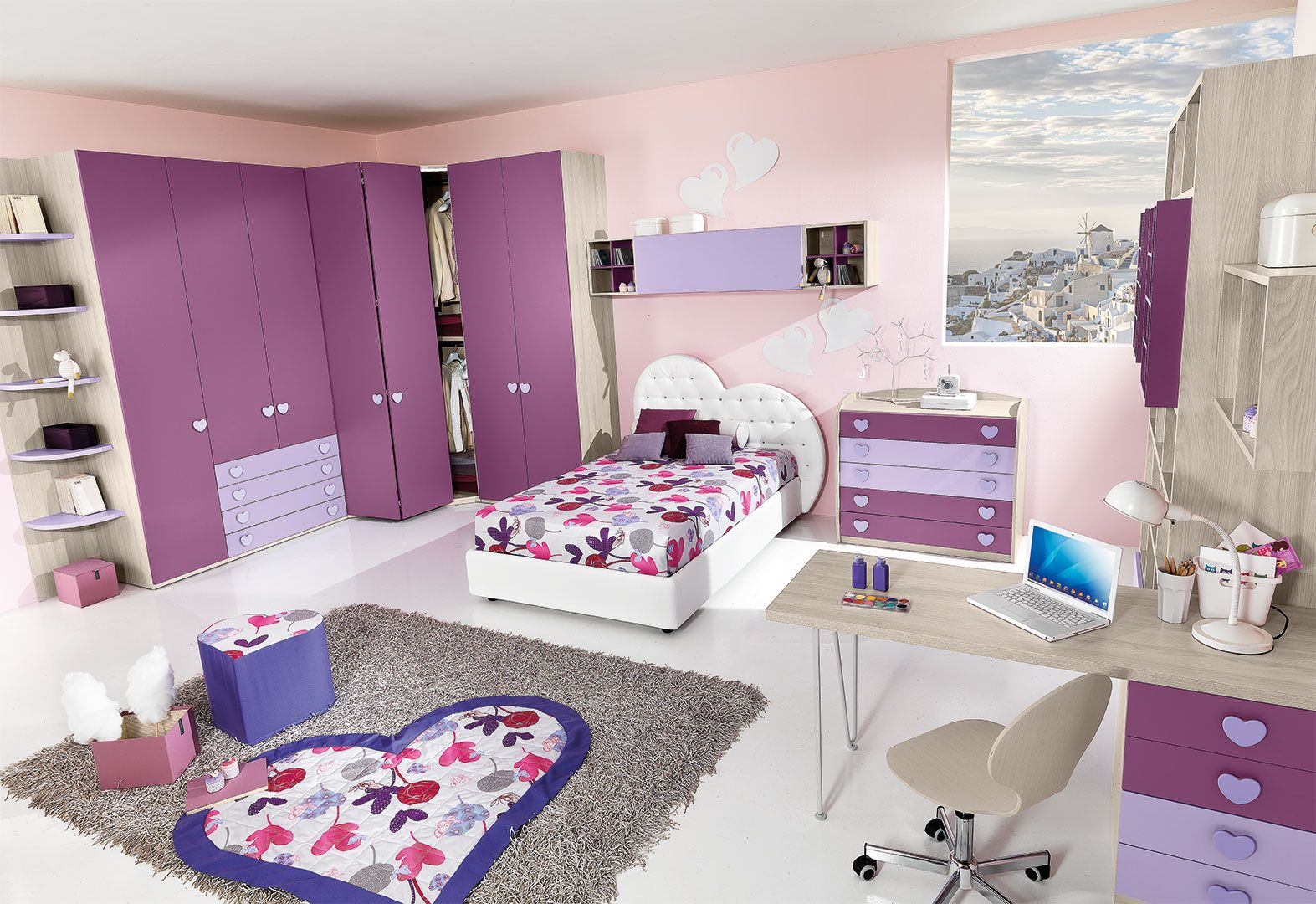 Cameretta bambina cm21 giessegi camere per ragazze - Donne in camera da letto ...