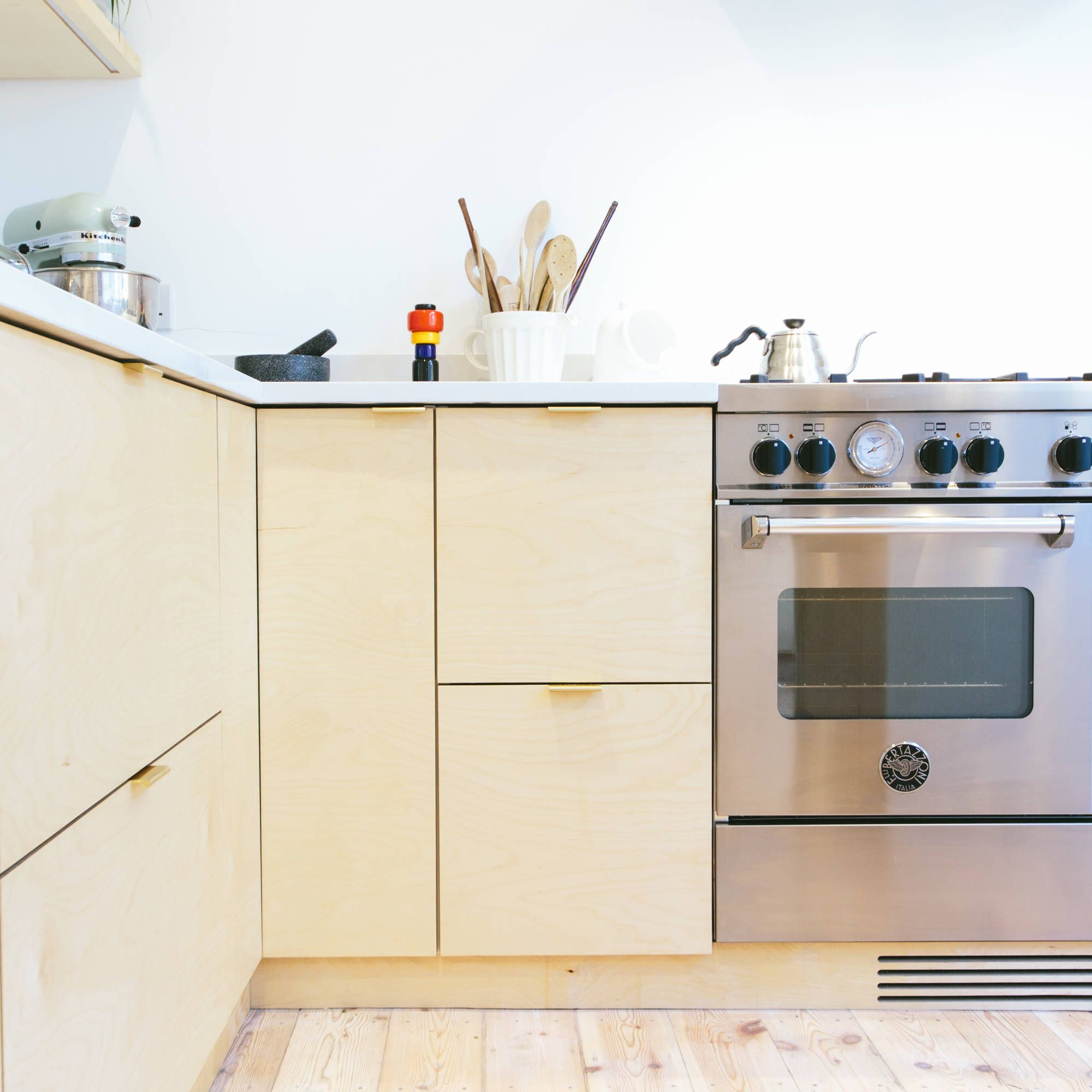 Birch Plywood Kitchen Doors And Drawers Plywood Kitchen Ikea Kitchen Diy Ikea Kitchen