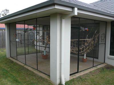 enclosed porch ideas | jim mckendry ? parrot behaviour ... - Ideas For Enclosing A Patio