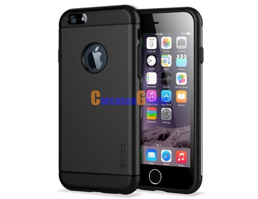 "Carcasa protetora de doble capa Shell para 4.7 ""iPhone 6 (Negro)"
