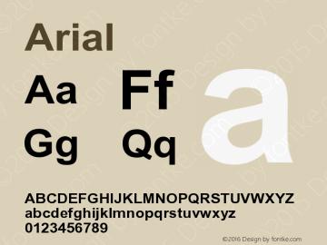 Arial Bold Version 1 1 - November 1992 Font Sample on en