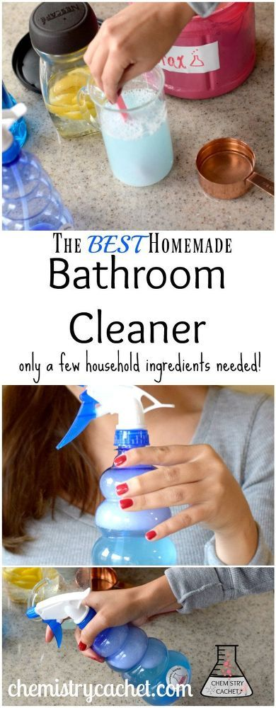 how to make the best diy bathroom cleaner with just a few rh pinterest es