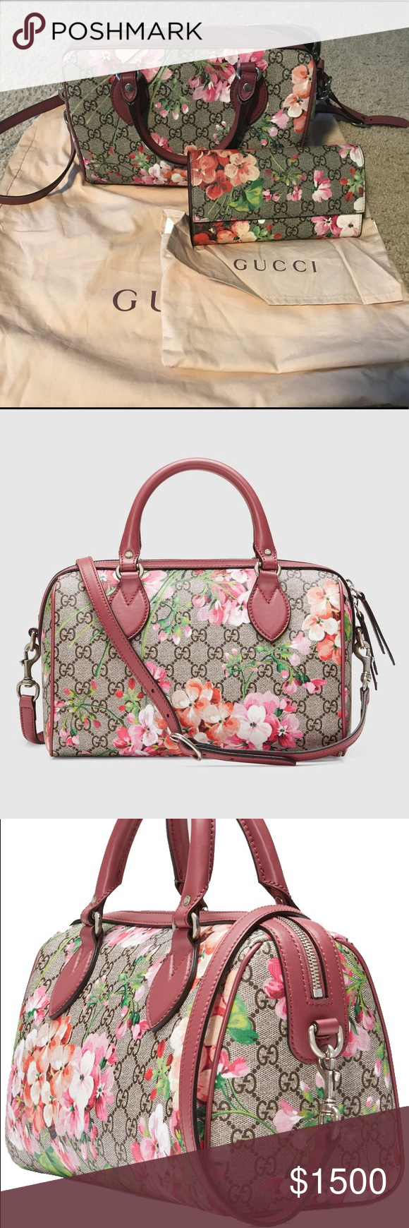 4d563f6bfea5cc Bloom Small GG top handle bag Brand new, unused - 100% authentic Blooms  print