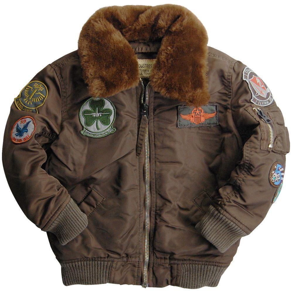 Details About Alpha Industries Kids Maverick Flight Jacket
