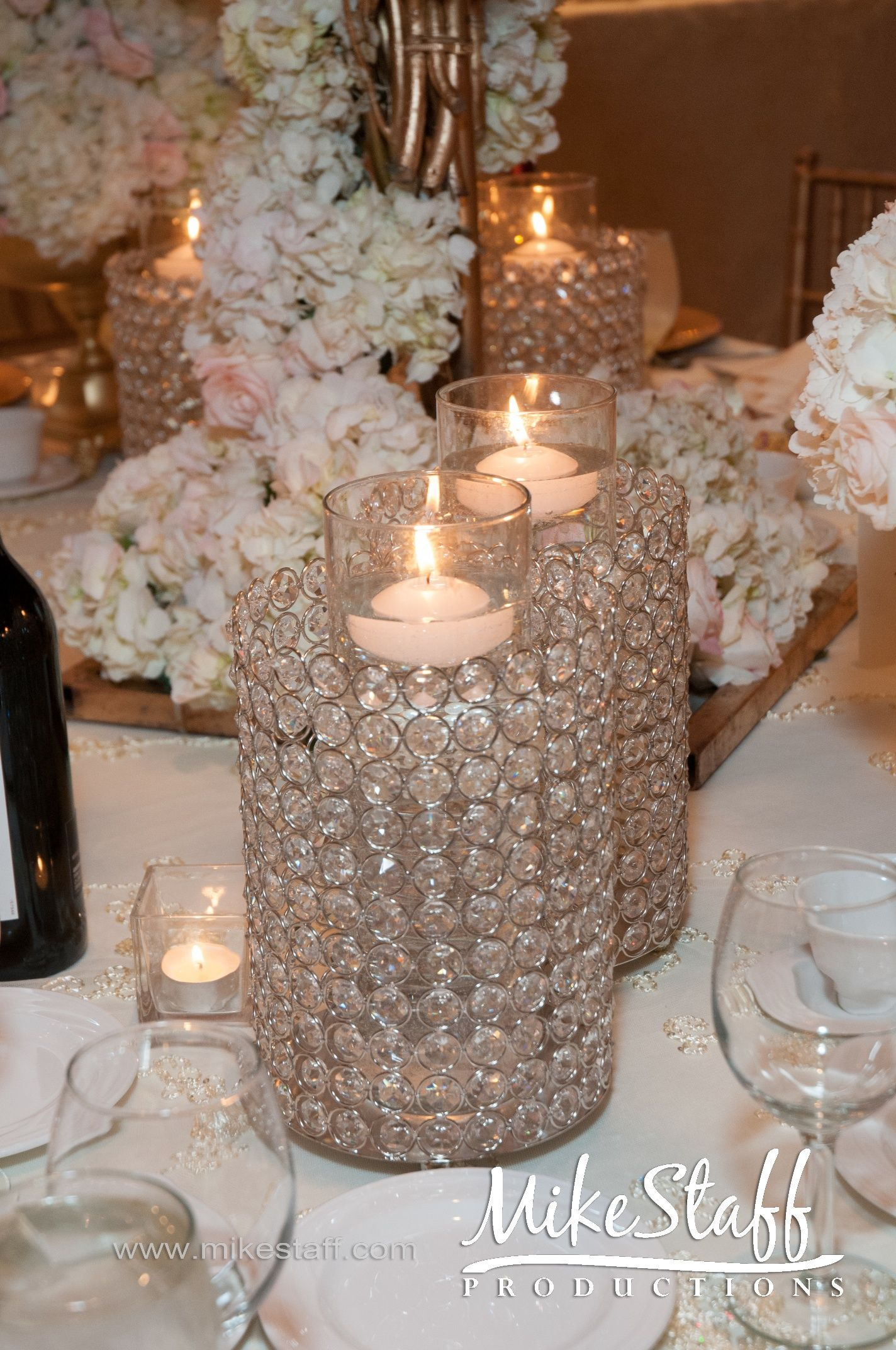centerpieces for wedding receptions with candles%0A Indian Weddings Inspirations  White Tablescapes  Repinned by   indianweddingsmag indianweddingsmag com    Dj SetupWedding Reception  DecorationsWedding
