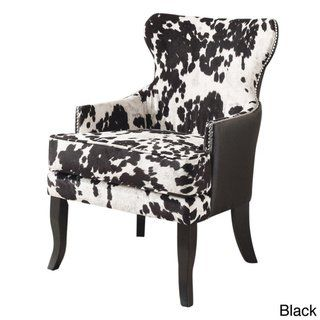 The Gray Barn Singing Elk Accent Chair Brown Fabric In 2020 Cowhide Chair Wingback Chair Accent Chairs