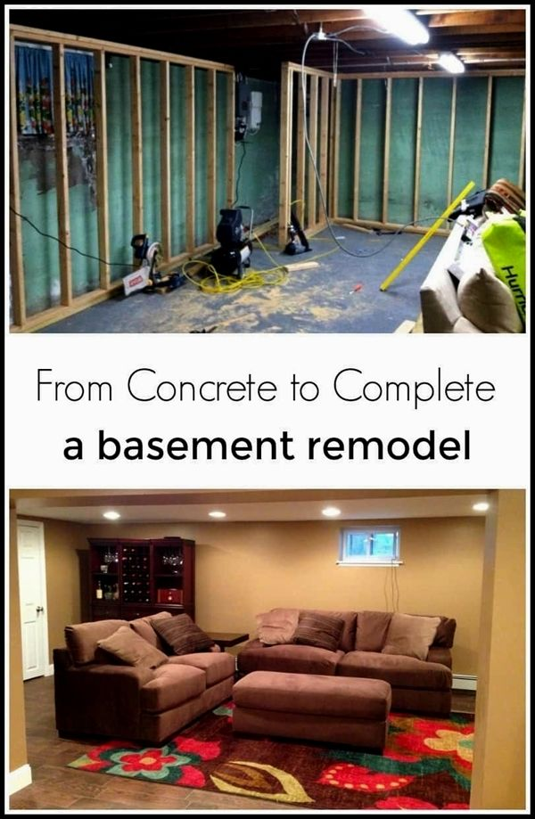 concrete to complete a basement remodel by just the woods rh pinterest com