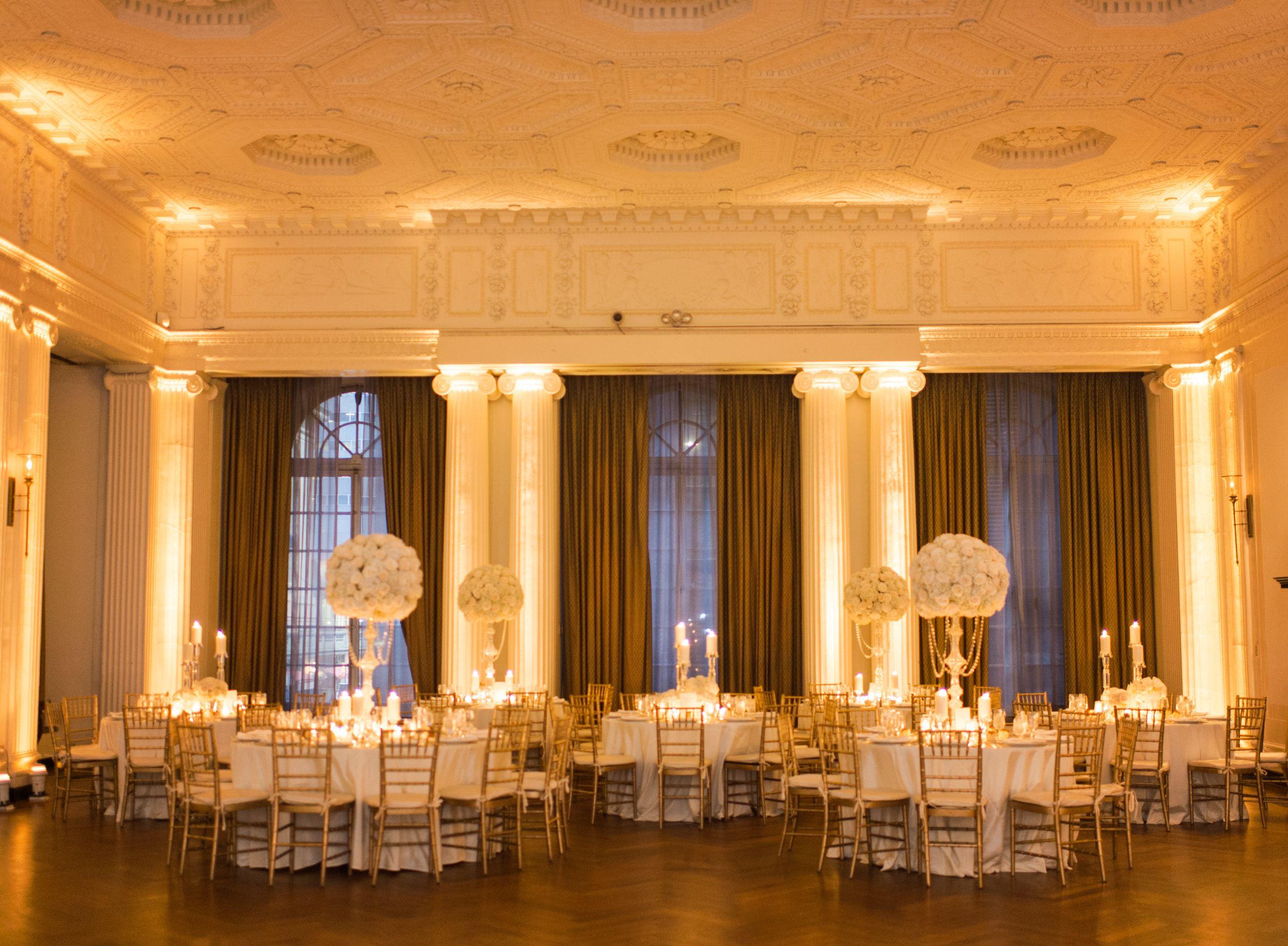 wedding reception locations nyc%0A Yale Club Ballroom Wedding Reception
