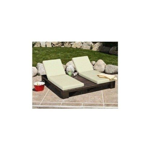 Double Chaise Lounge Outdoor Patio Deck Furniture Deck Pool Lawn Chairs - http://www.majestypatiofurniture.com/double-chaise-lounge-outdoor-patio-deck-furniture-deck-pool-lawn-chairs/