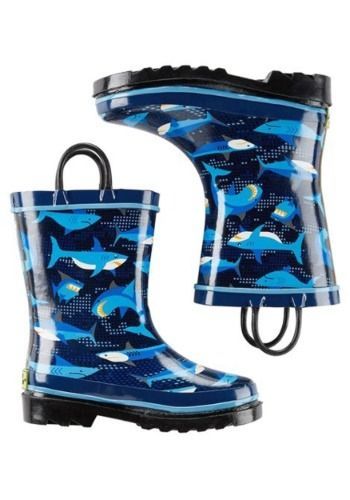 Kids Pixel Shark Camo Rain Boots in 2020 | Kids rain boots ...