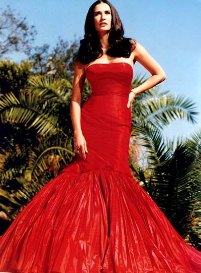 Demi Moore | Demi moore | Pinterest | Red gowns, Gowns and Mermaid