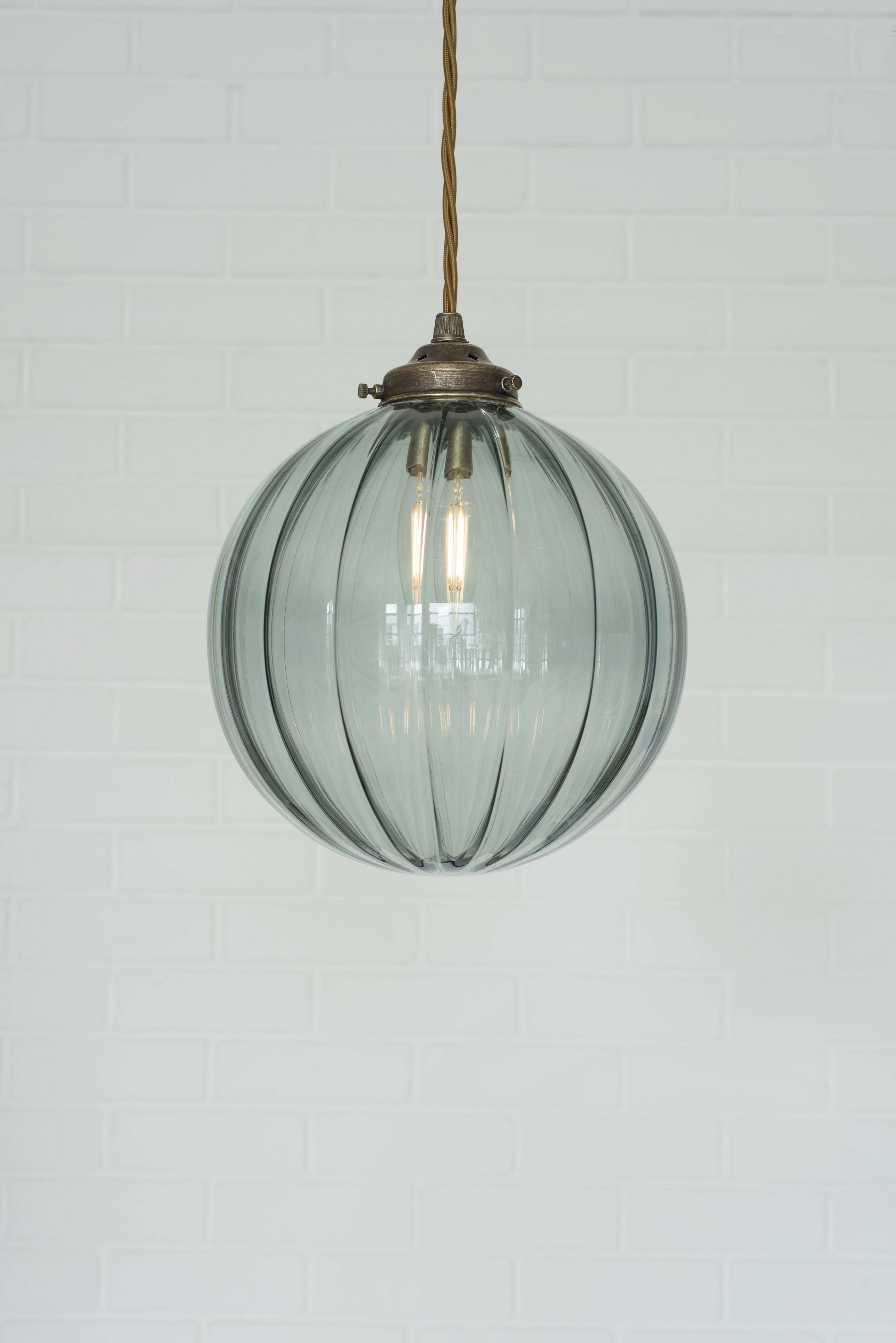 Fulbourn Greeny Blue Coloured Glass Pendant Lightin Polished Pendantlighting Glass Pendant Light Pendant Light Glass Lighting
