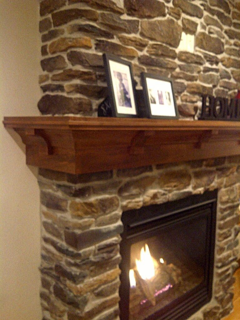 custom made maple mantel craftsman style