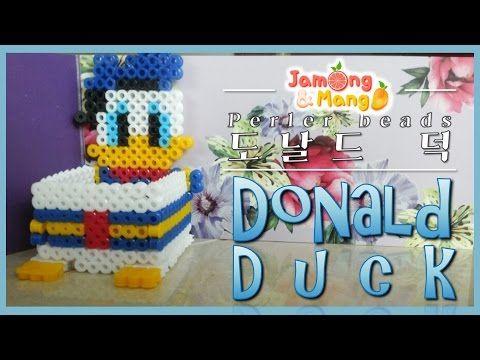 [디즈니] 펄러비즈 만들기 - 도날드 덕 케이스(Disney/Donald duck/perler beads) - YouTube