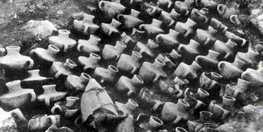 Canaanite Jars Minet El Beida Port Of Ugarit Lined Up Ready