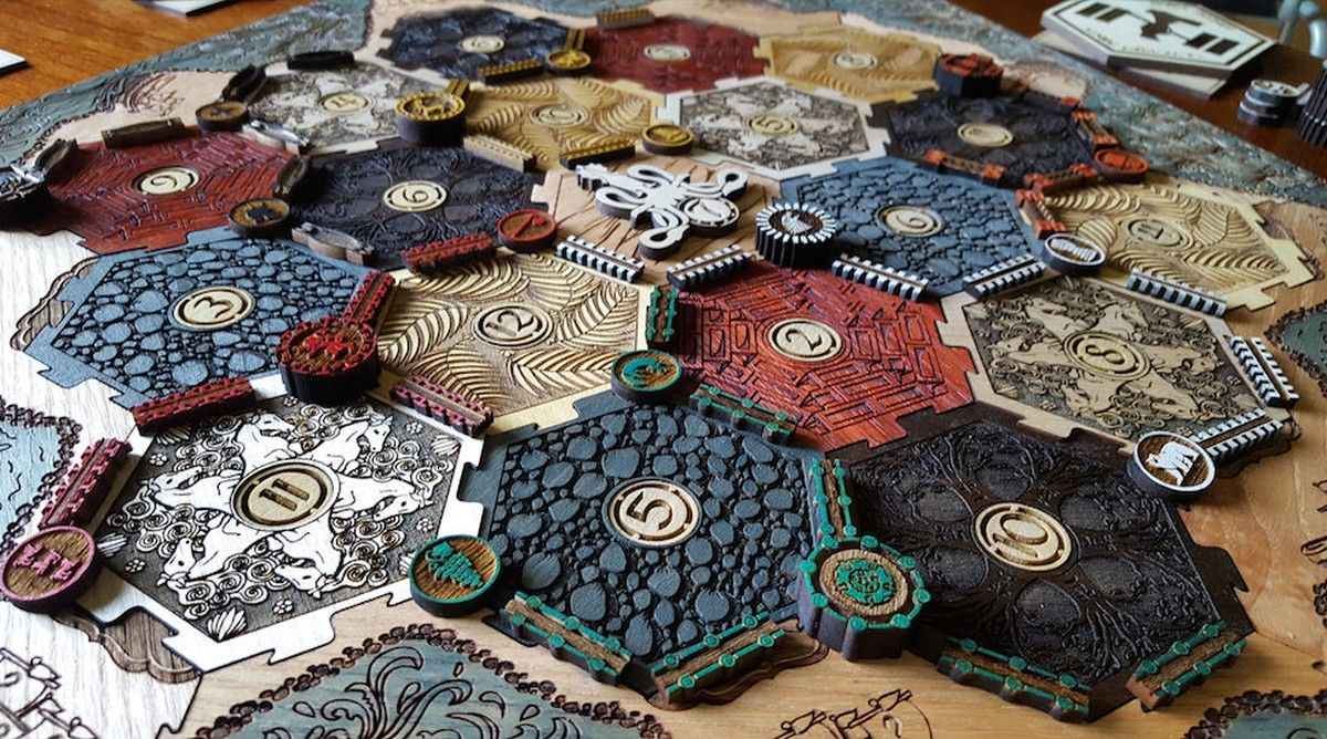 This Custom Game of Thrones Catan Board is a Masterpiece