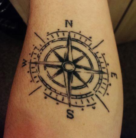 Die 8 besten Bilder von Tattoo! | Windrose, Windrose tattoo