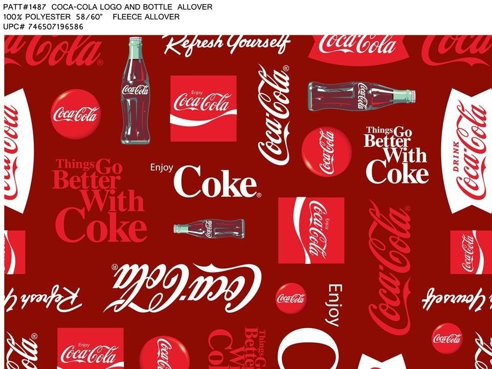 Coca Cola Fleece Fabric Blanket E 1487 Cocacola
