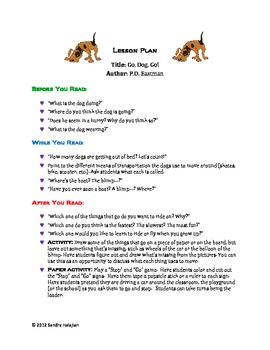 Go Dog Go A Complete Lesson Plan Lesson Plans How To