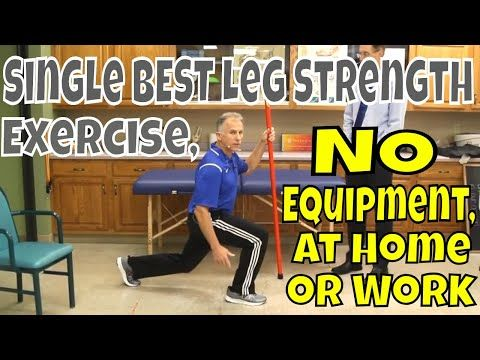single best leg strength exercise no equipment at home