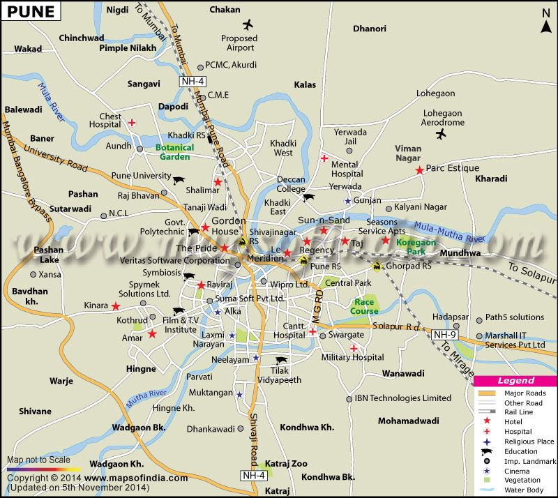 City Map of Pune City information, Map, India map