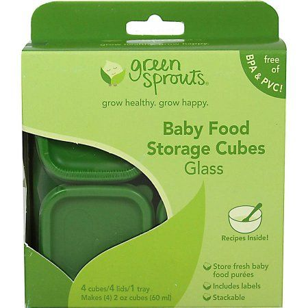 Green Sprouts Glass Baby Food Storage Cubes, 4 ct